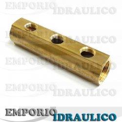 Collettore a barra 1 interasse 50 mm rm1432 3 4 5 6 7 8 for Impianto idraulico pex vs rame