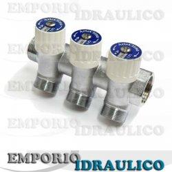 Collettore lineare con rubinetti mf inclinato arteclima for Impianto idraulico pex vs rame
