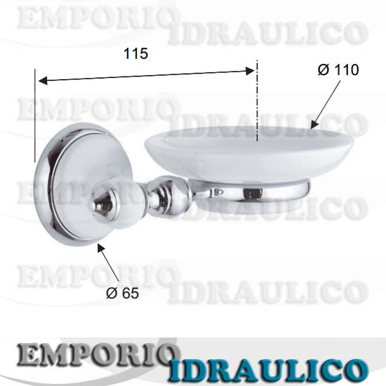 Dispenser in Ceramica Bianco Remer Serie Epoca
